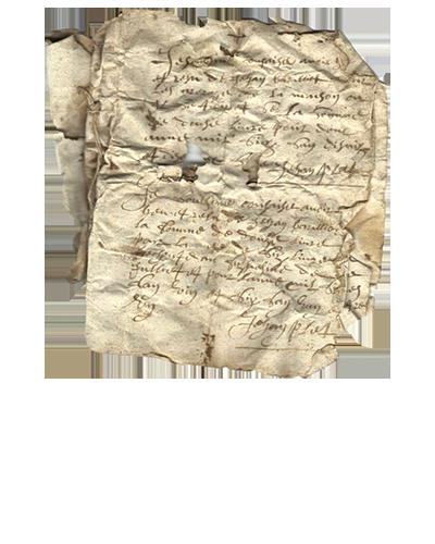 Parchemin du XVIIe siècle